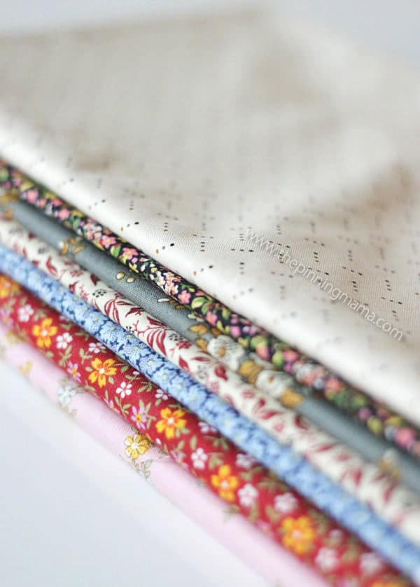 Little House on the Prairie fabric line from Andover fabrics. Love this for little girls!