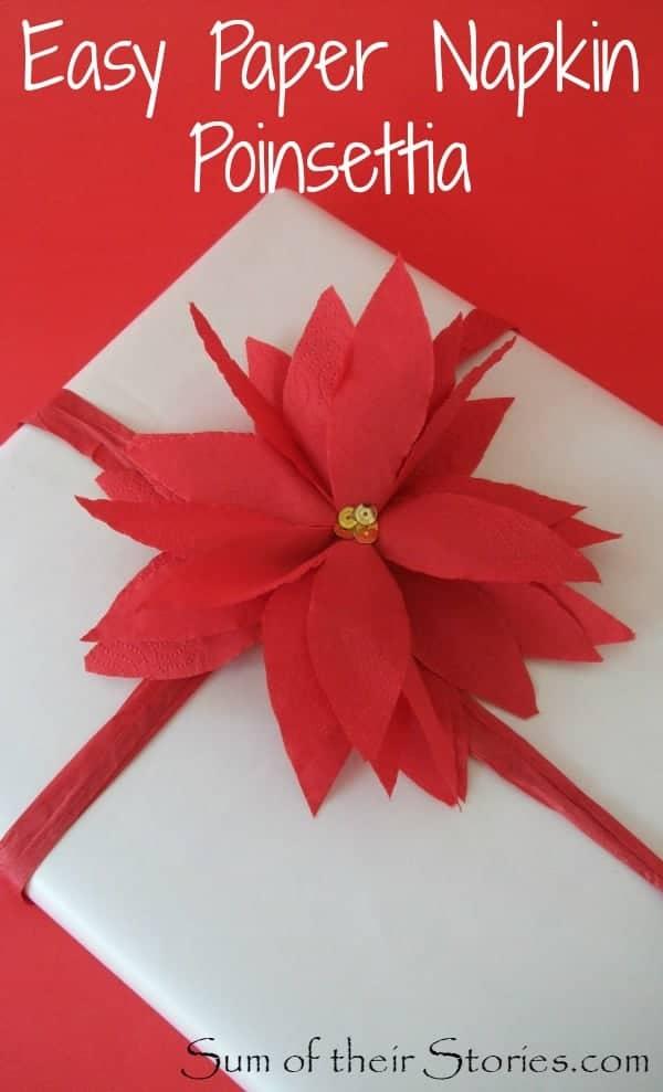 poinsettia gift wrap