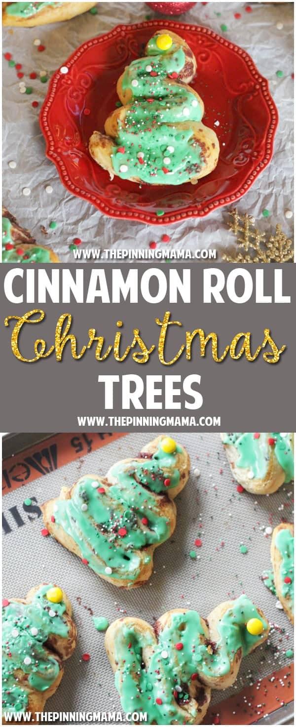 Pillsbury Cinnamon Roll Christmas Trees
