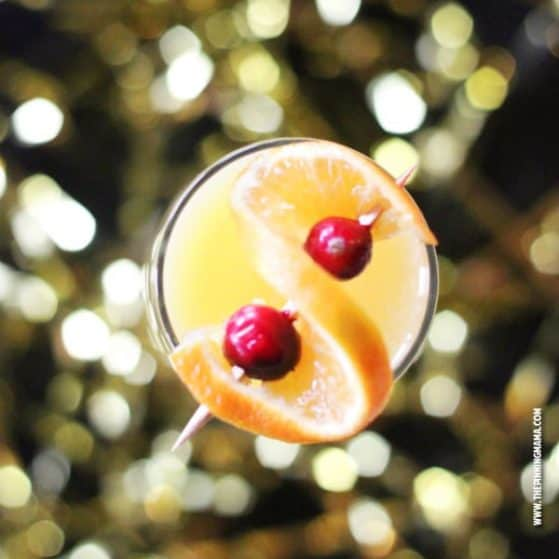 A mimosa is the perfect drink for celebrating! Add this skinny non-alcoholic version to the party menu to have something for everyone, even those on a diet or who do not drink.