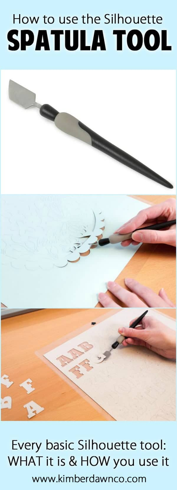 Silhouette Spatula Tool: How to use every basic Silhouette Tool - Click here to see them all!