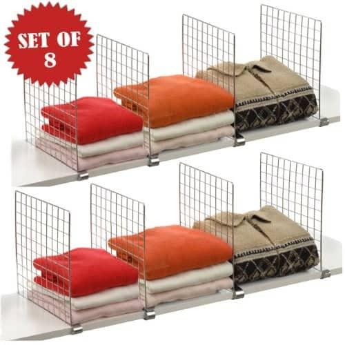 Organize a Closet: Shelf Dividers