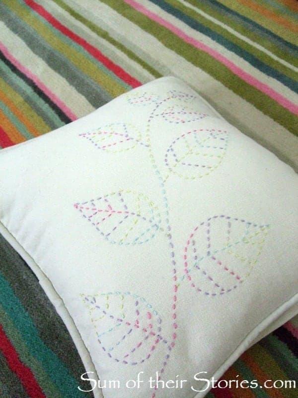 pillow on rug
