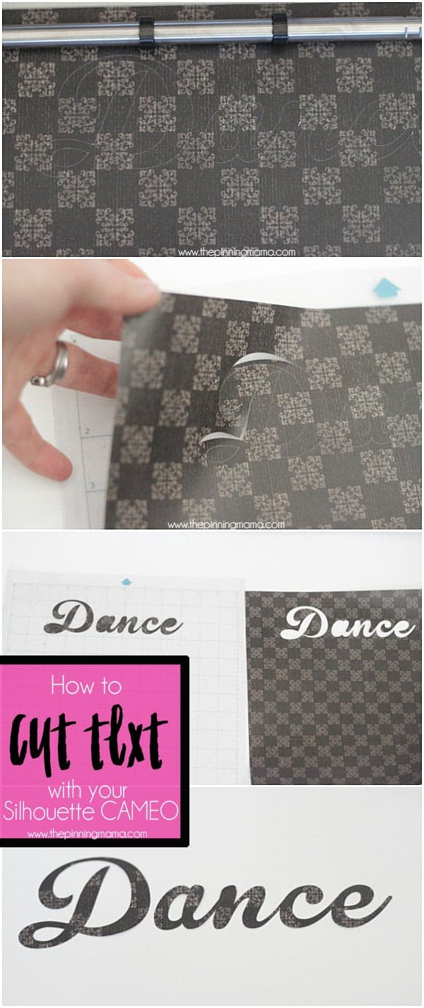 How to cut text with your SIlhouette CAMEO - Step by Step instructions on how to get the best results!