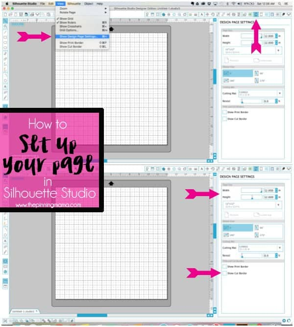 How to Set up a Page to Cut with your Silhouette CAMEO