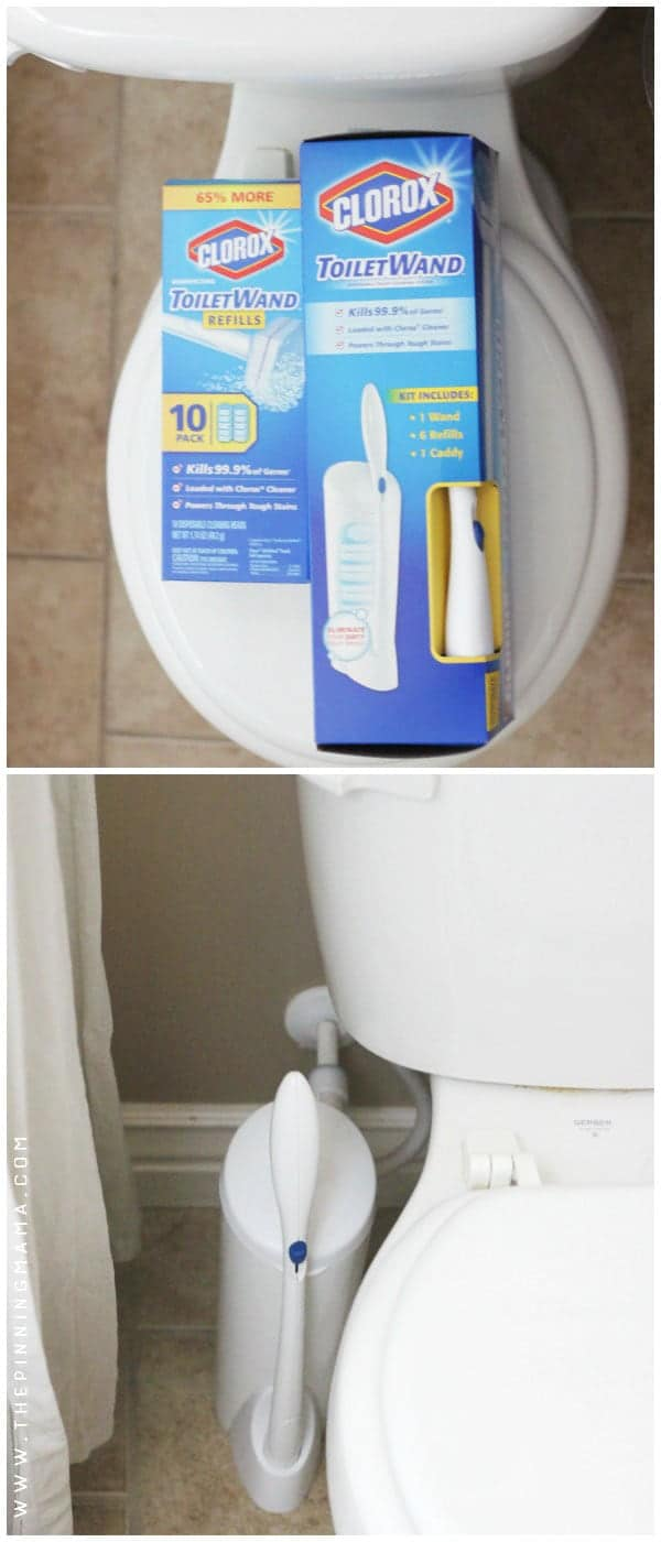 Clorox disposable toilet wand make it super easy to clean toilets without touching anything gross!! - See 10+ MORE Cleaning tips, tricks and hacks for people that HATE to clean here!