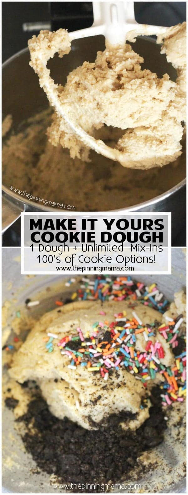 Basic Soft & Chewy Cookie Recipe - Use this recipe and add in whatever you want to make your favorite flavor cookies! YUM!