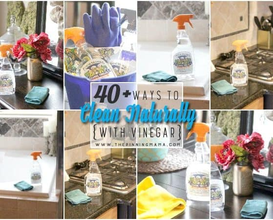 I didn't know there were so many ways to clean with Vinegar!! It is inexpensive and natural way to clean. Saving this list for reference!
