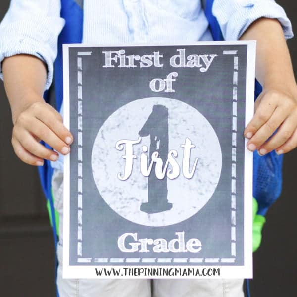 Free Printable First Day of School Signs Pre K - 12th Grade - DOWNLOAD FREE