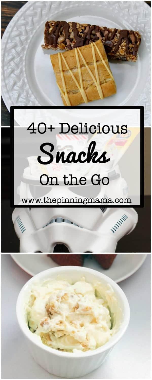 40 Snacks on the Go | www.thepinningmama.com