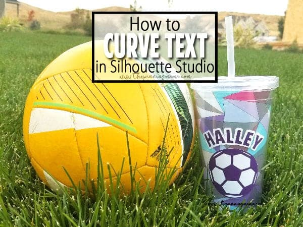 How to Curve Text in Silhouette Studio - A simple tutorial.