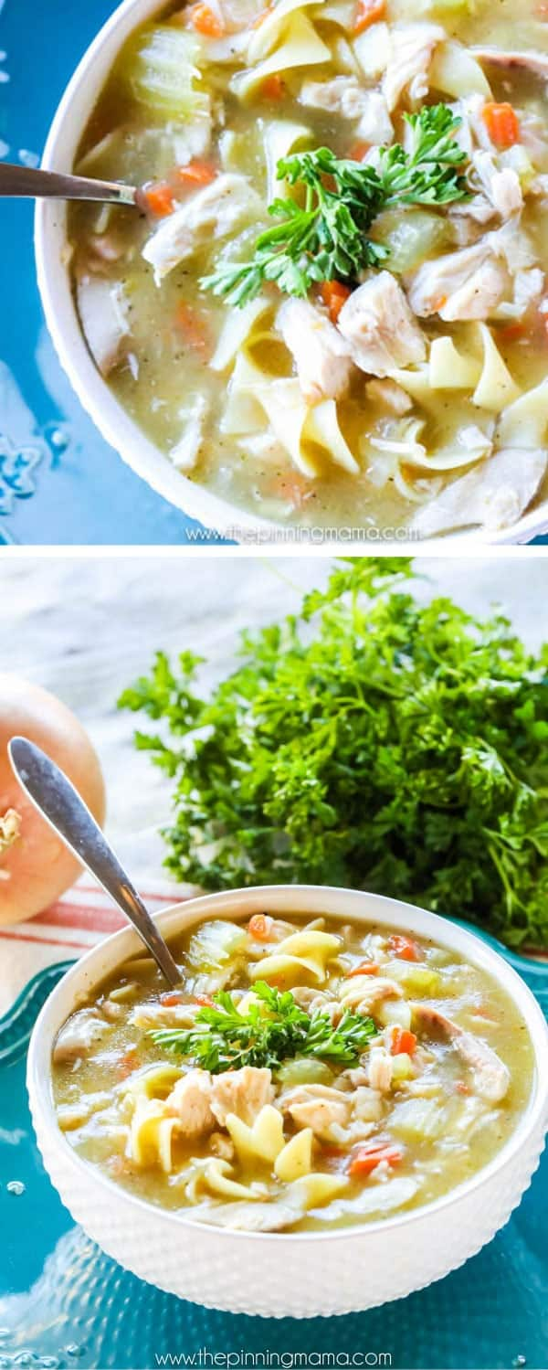 This is the BEST Homemade Chicken Noodle Soup recipe period!! You HAVE to try this one!
