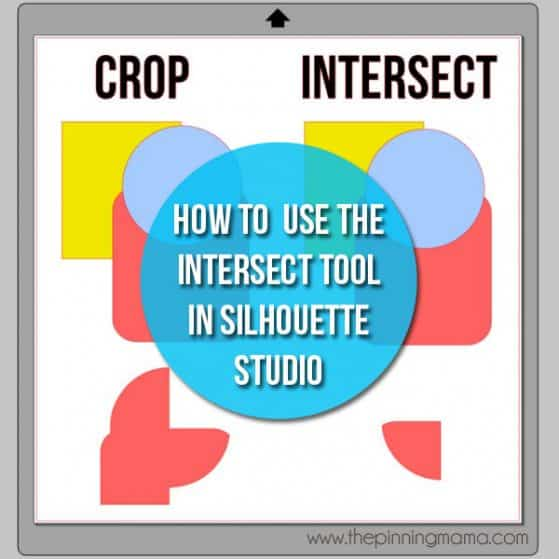 What is the difference between CROP and Intersect in Silhouette Studio