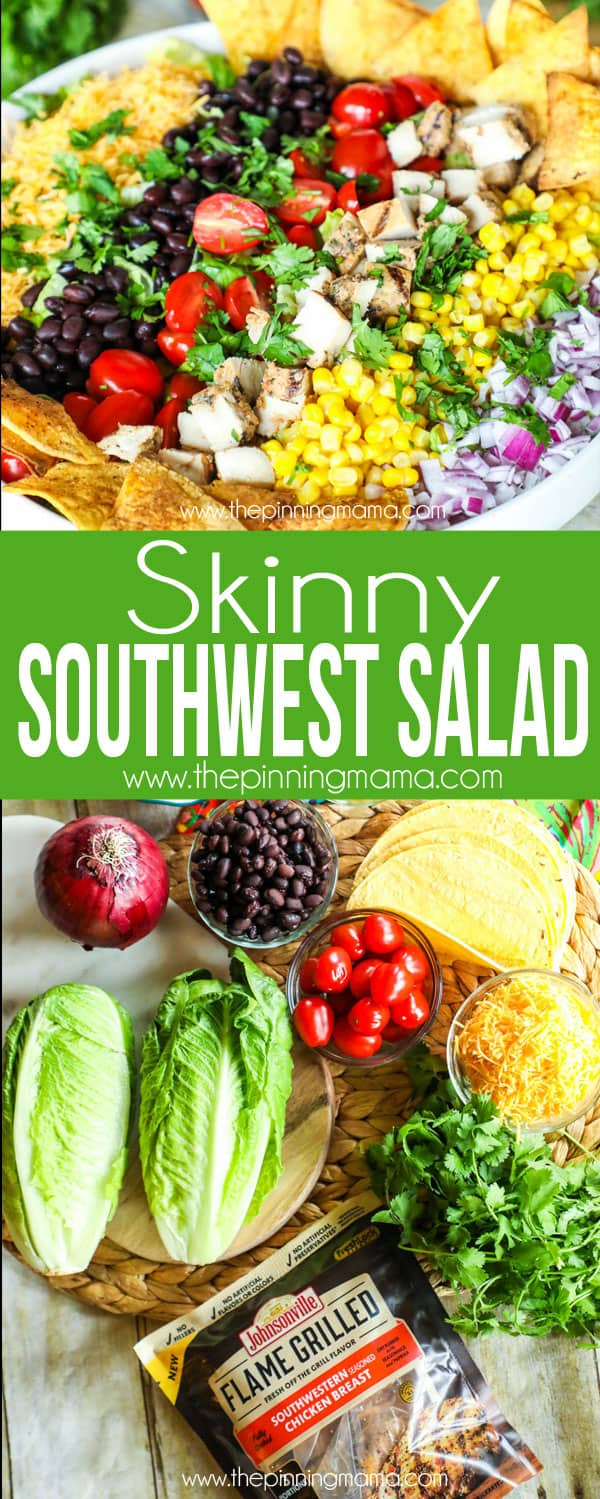 SKinny Southwest Salad Recipe - Packed with flavor but light enough to keep you feeling great!