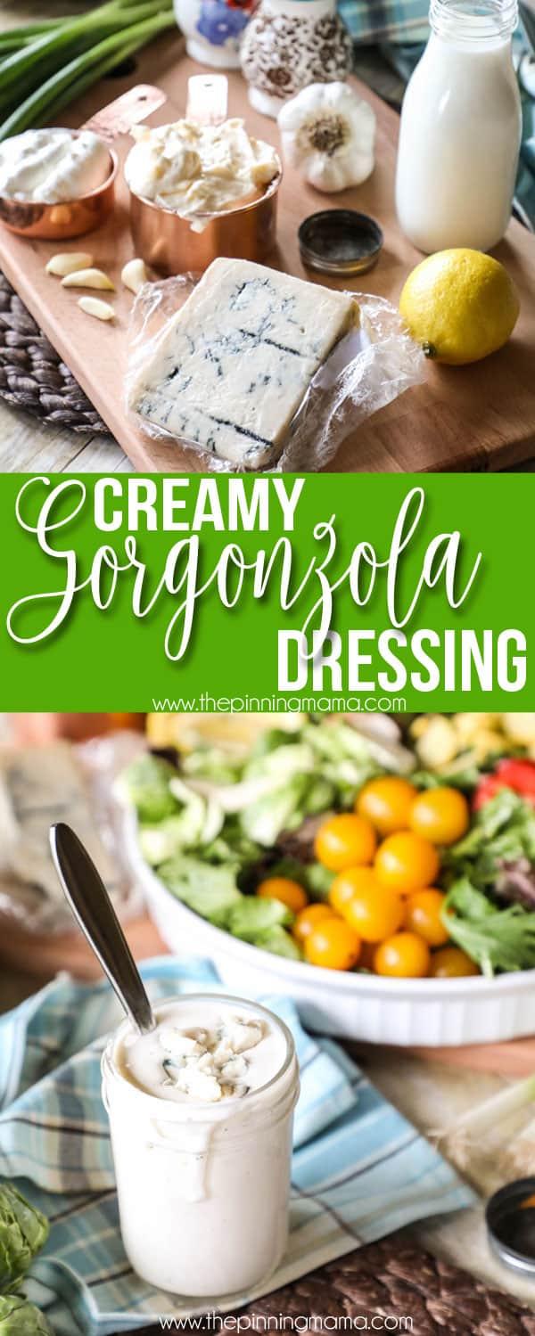 Simple Ingredients for Creamy Gorgonzola Dressing