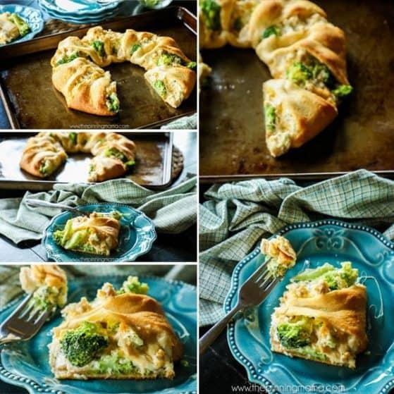 Chicken Broccoli Cheddar Crescent Ring Recipe