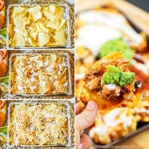 BBQ Ranch Chicken Nachos Step by Step directions
