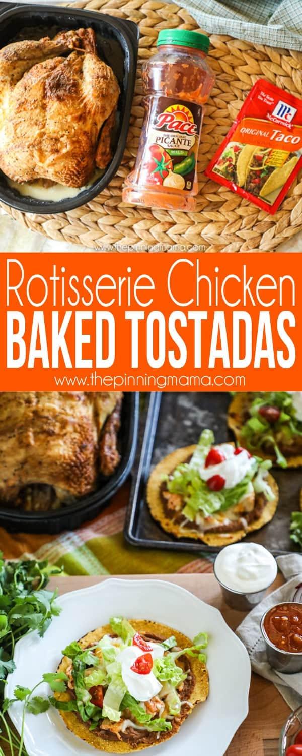 Rotisserie Chicken Baked Tostadas Recipe