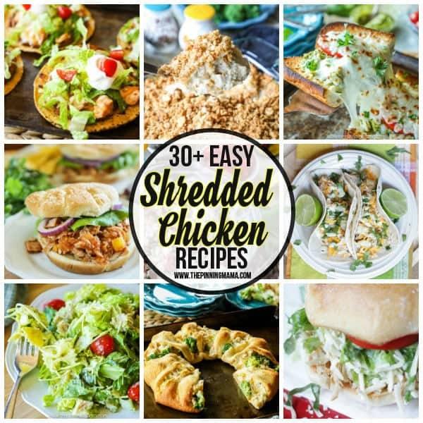 List of Easy to make shredded chicken recipe