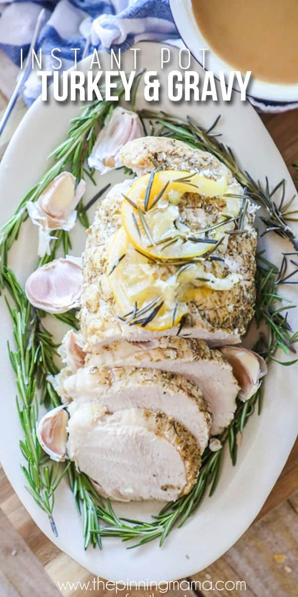 Instant Pot Turkey Breast with Lemon and rosemary