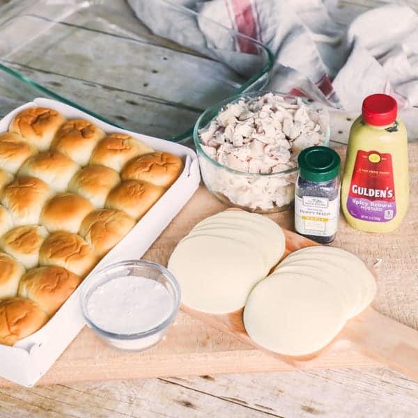 Shredded Chicken Sliders Ingredients