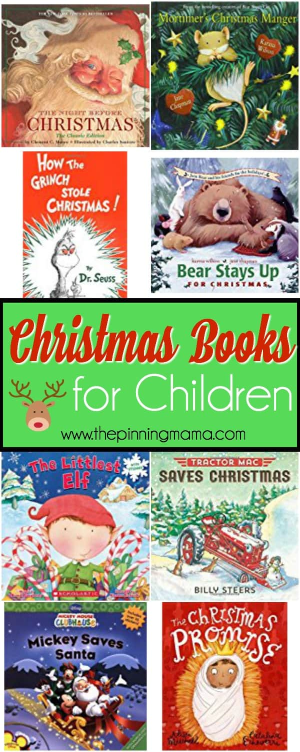 the great list of Christmas books for the family to enjoy