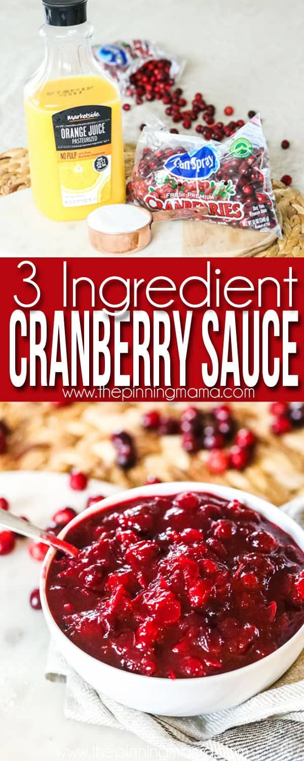 Homemade Cranberry Sauce Recipe- Quick and Easy!