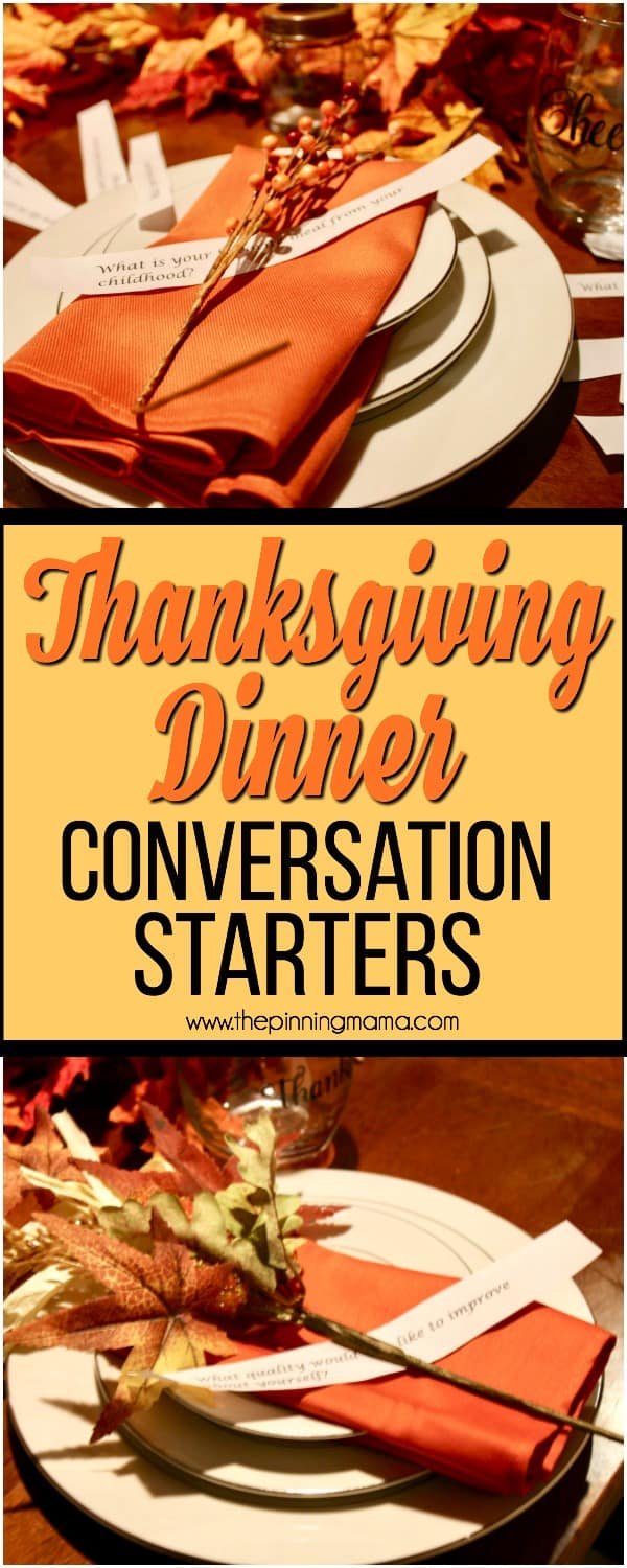 big list of conversation starters for Thanksgiving dinner