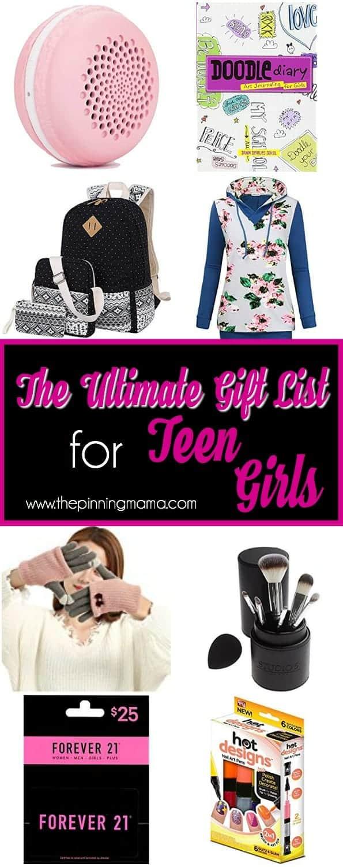 Huge list or Gift ideas for Teen Girls