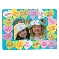 Conversation Heart Picture Frame craft for school parties.
