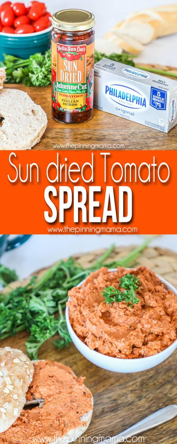Sun dried tomato spread