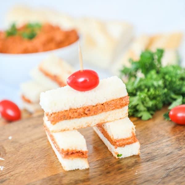 Sun Dried Tomato Finger Sandwiches