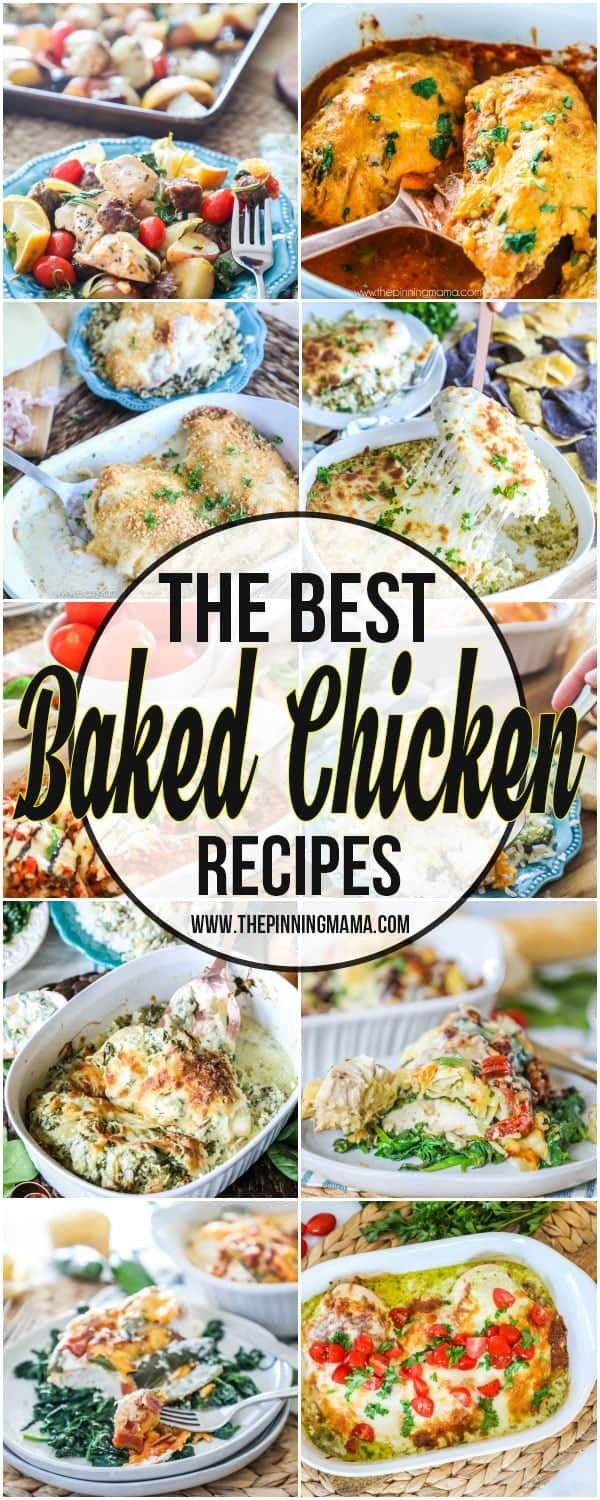 My FAVORITE Baked Chicken Recipes