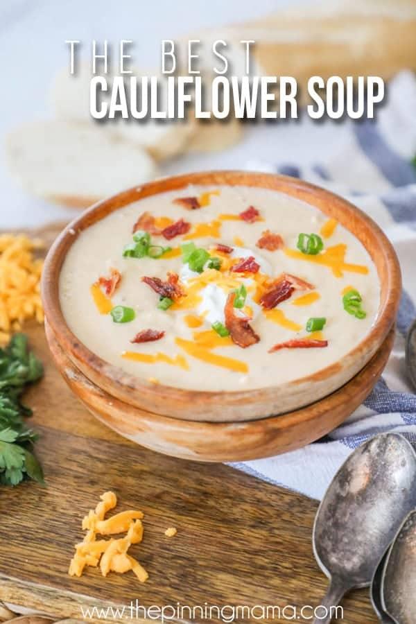 The BEST Creamy Cauliflower Soup recipe