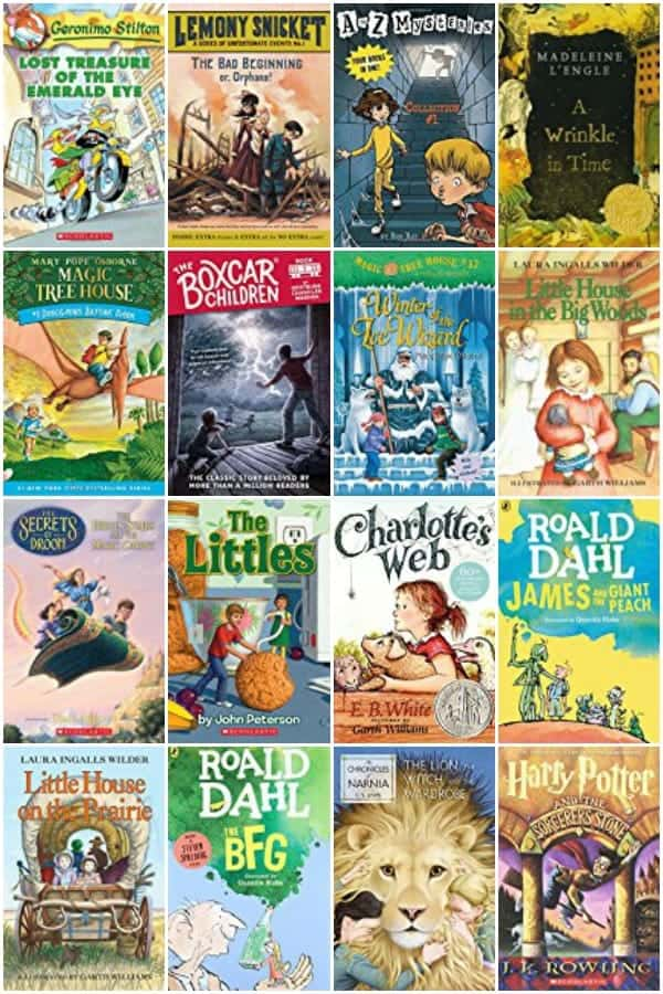 Your Big list of Boys and Girls Chapter Books.