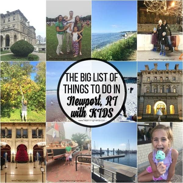The BIG list of things to do in Newport RI with Kids.