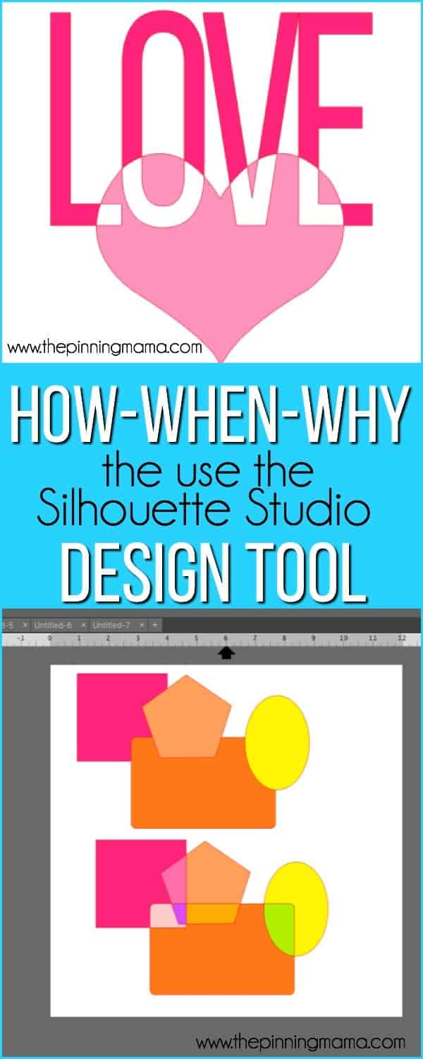 how..when..why to use the design tool in Silhouette Studio.