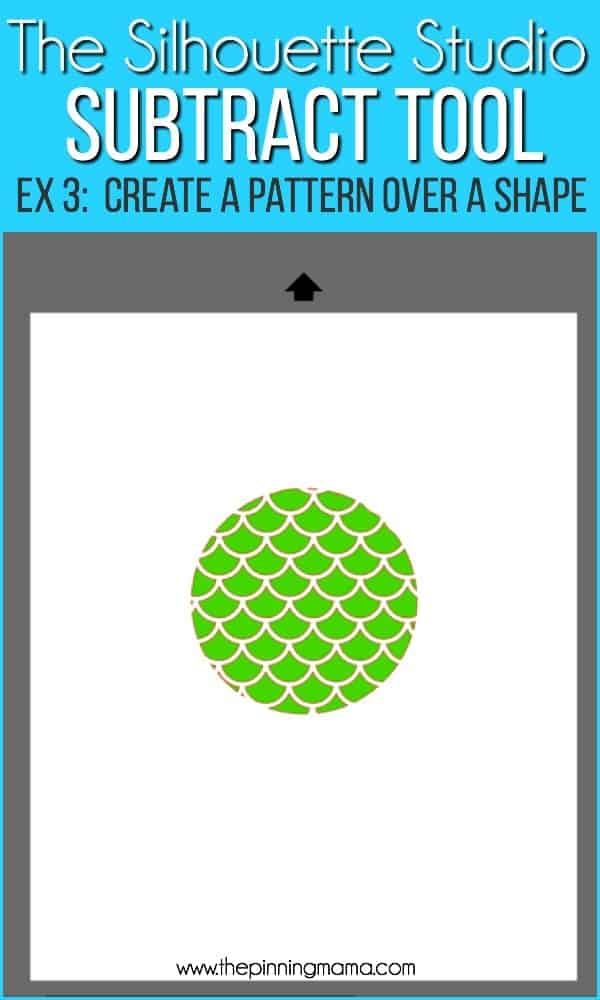 Creating patterns over shapes using the subtract tool in Silhouette Studio