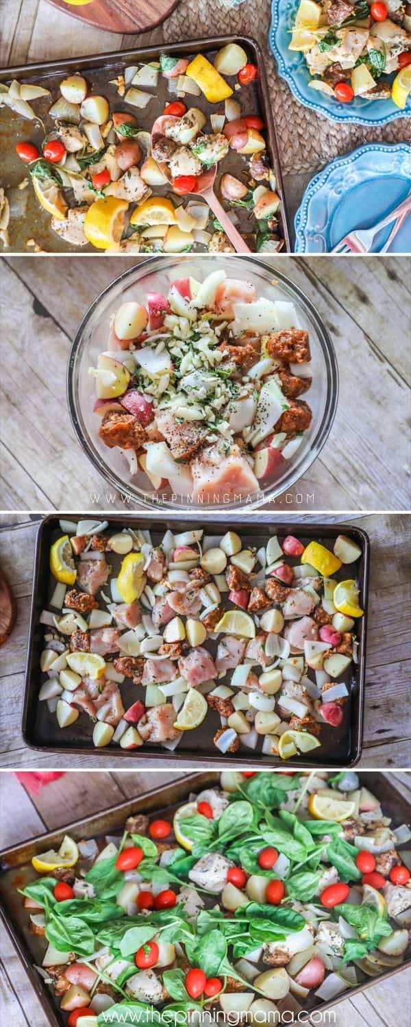 How to Make Chicken Sheet Pan dinner!