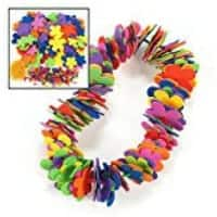 Flower Leis craft for school parties