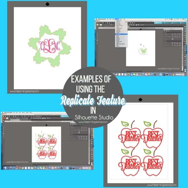 Examples of using the Replicate Feature in Silhouette Studio.