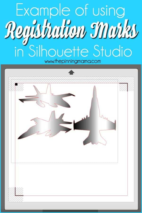 Example of using Registration Marks in Silhouette Studio.