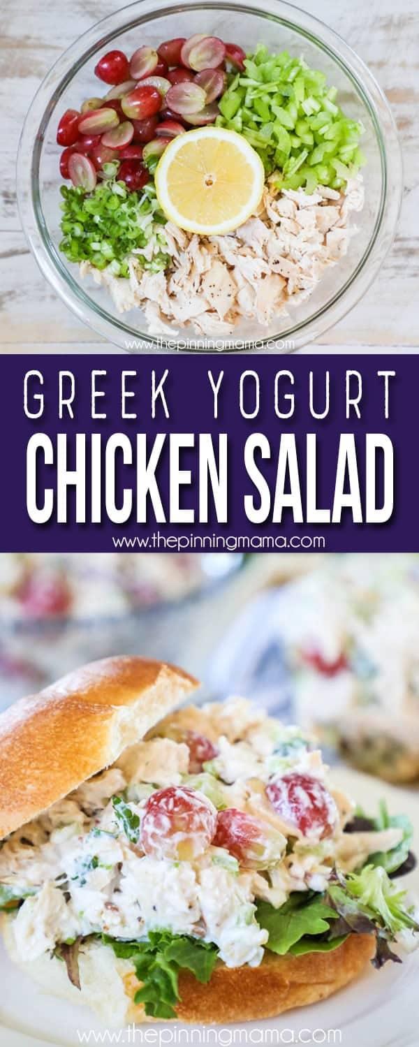 The BEST Greek Yogurt Chicken Salad