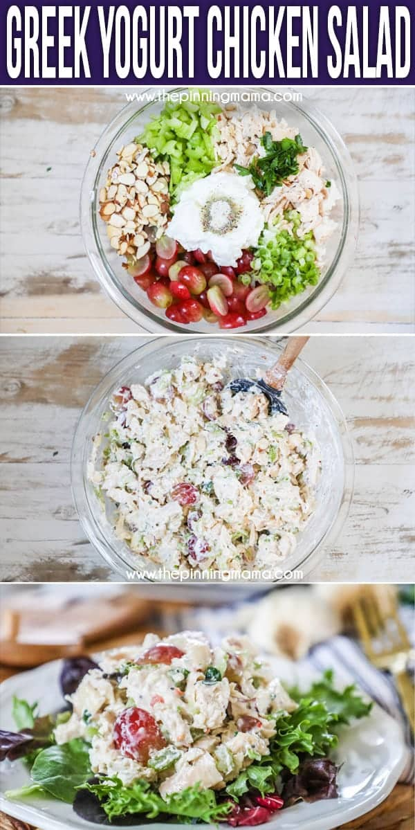 SO GOOD! How to make Chicken Salad with Greek Yogurt