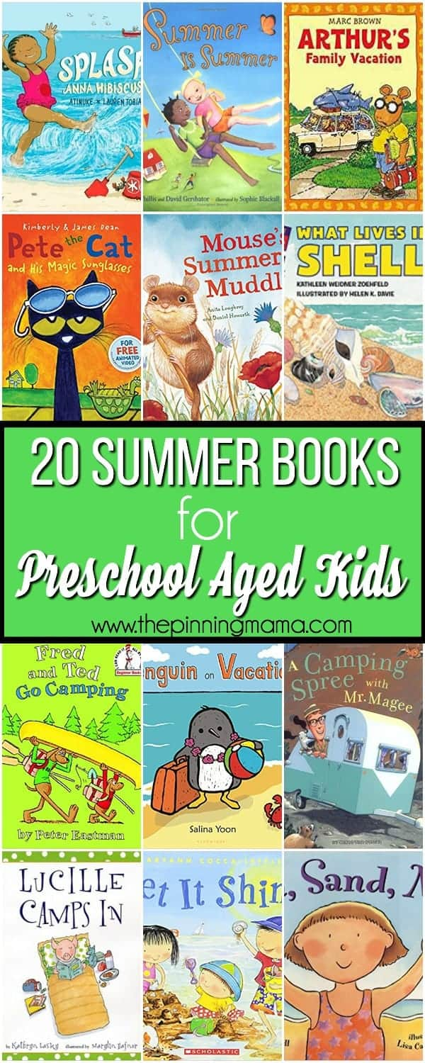 20 Summer Books for Preschool aged kids.