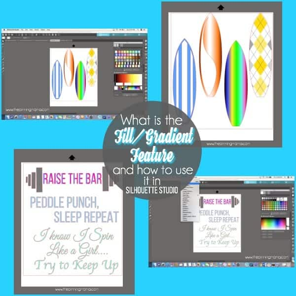Tips and Tricks on using the Fill/Gradient Feature in Silhouette Studio.