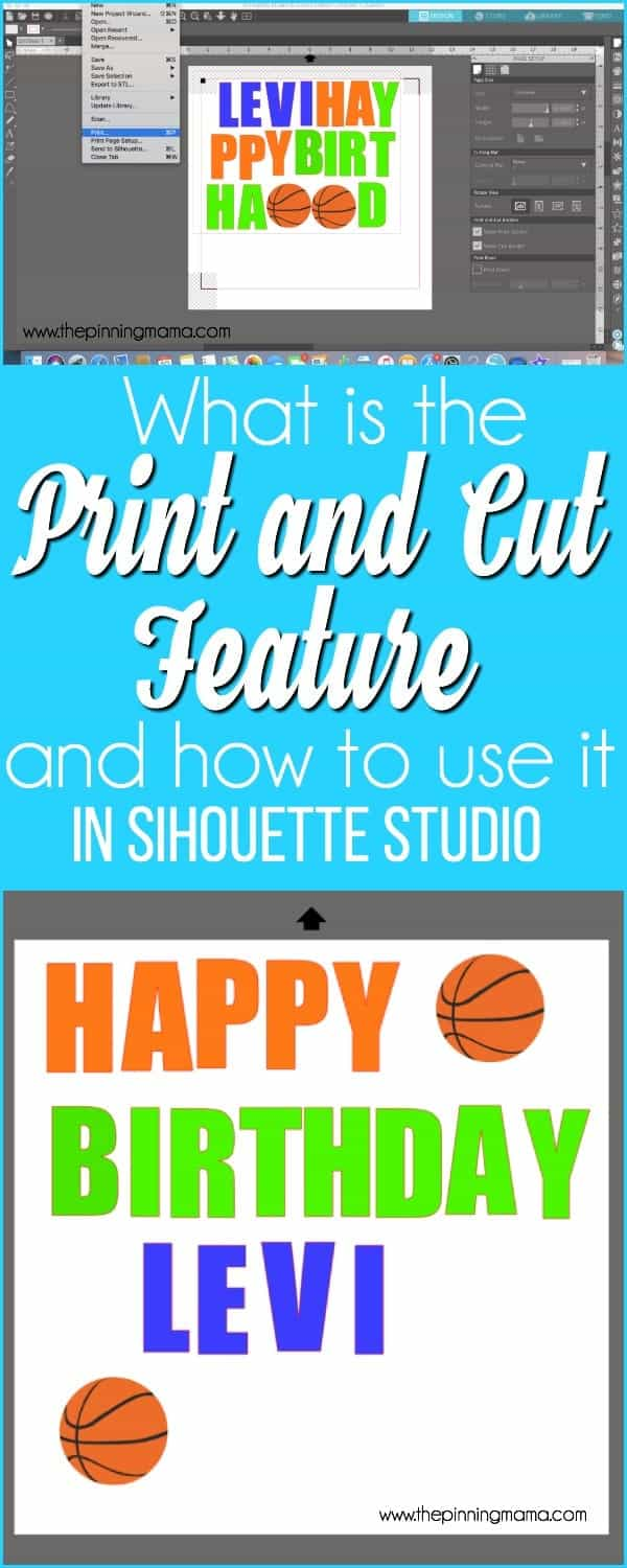 What is the print and cut feature and how to use it in Silhouette Studio.