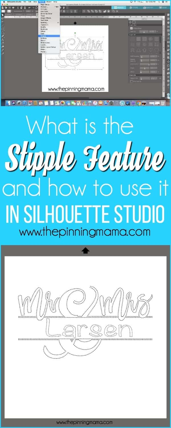 What is the Stipple Feature and how to use it in Silhouette Studio.
