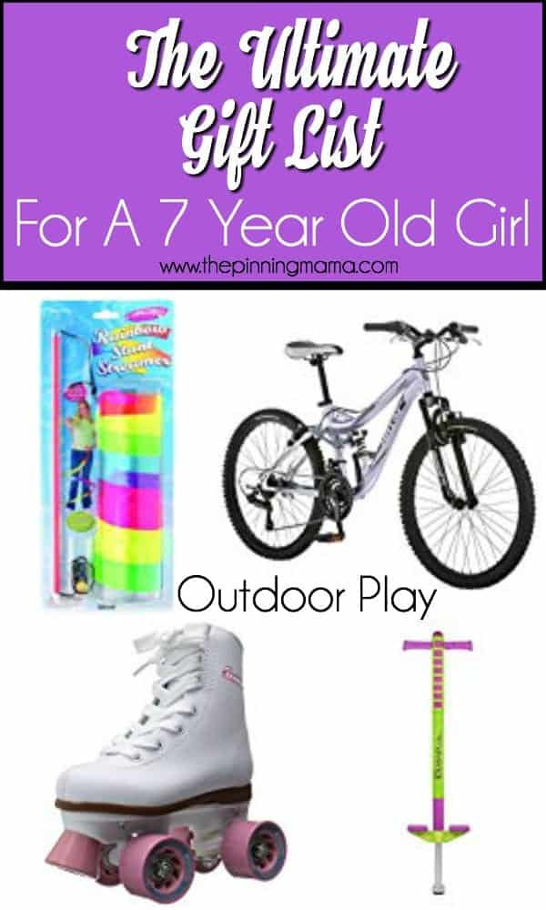 Outdoor play gift ideas for a 7 year old girl.