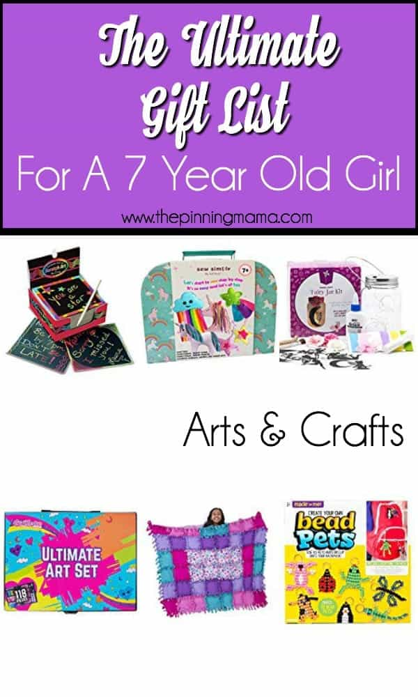 Gift ideas for a 7 year old girl, arts and crafts.